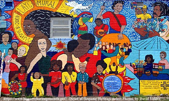 Hispanic Heritage Month wall mural